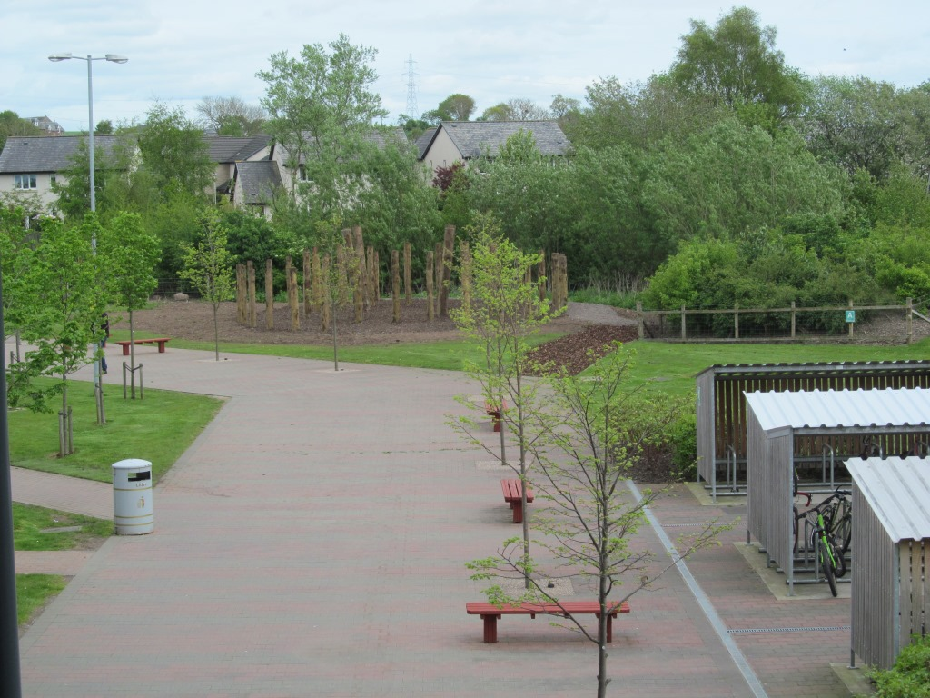 SCC timber circle from school balcony