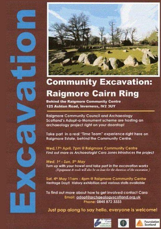 Raigmore excavation poster