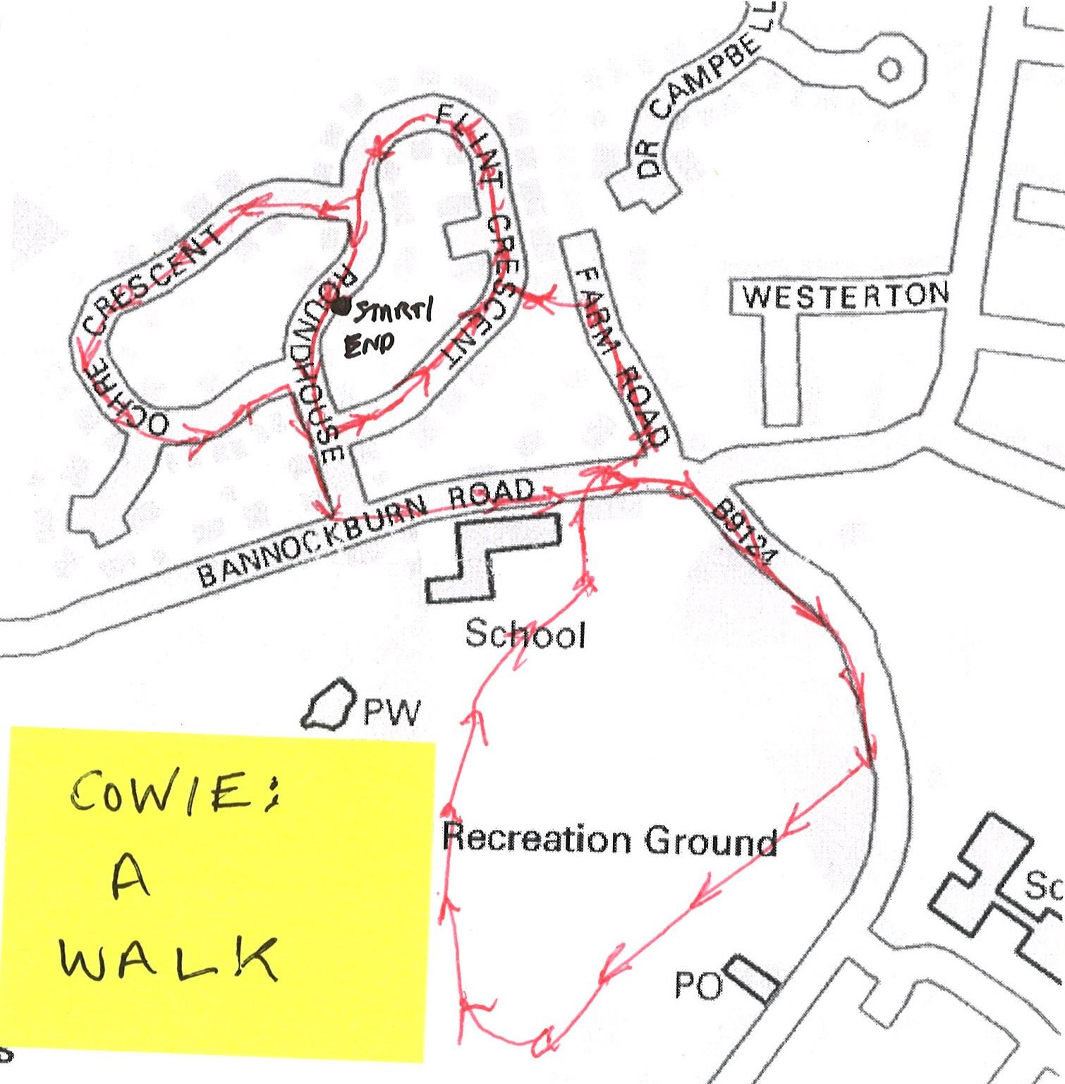 Cowie a walk map